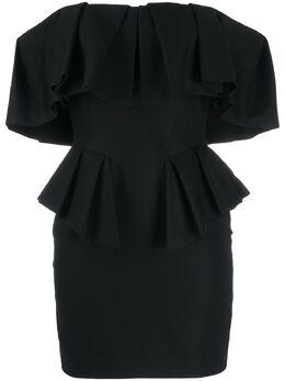 Alexandre Vauthier платье мини с драпировкой 201DR123602011207