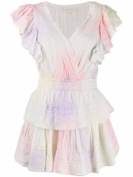 Loveshackfancy платье мини с ярусными оборками LD546412MULTD