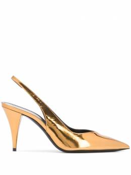 Saint Laurent туфли Kiki с ремешком на пятке 602632AAL00