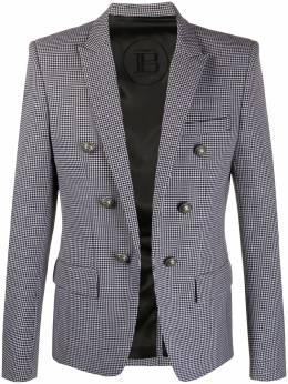 Balmain пиджак в ломаную клетку UH17110W084