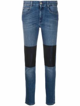 Stella McCartney джинсы скинни с нашивками 372773SFH34