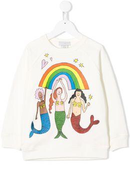 Stella McCartney Kids TEEN Mermais print sweatshirt 588675SOJ34