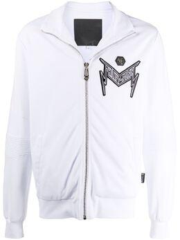 Philipp Plein куртка на молнии с логотипом Thunder P20CMJB1946PJO002N