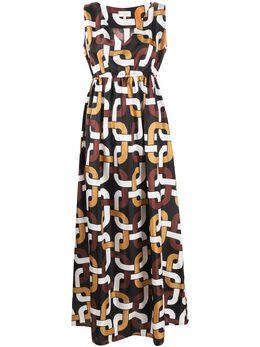 Altea платье макси с геометричным принтом 6546