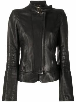 Gucci Pre-Owned band collar leather jacket CVB20181