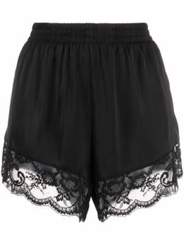 Paco Rabanne lace-trimmed satin shorts 20PCPA036PO0180