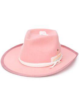 Nick Fouquet шляпа-федора с лентой 539BABERAINBOWFELT