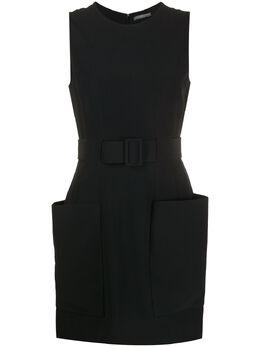 Alexander McQueen платье-трапеция с поясом 344127QCE40