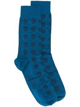 Alexander McQueen носки с узором 3113554606Q