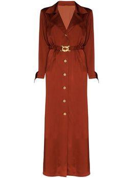 Dodo Bar Or платье макси на пуговицах с поясом DBO1215
