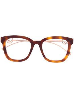 Fendi Eyewear очки в квадратной оправе FF0419
