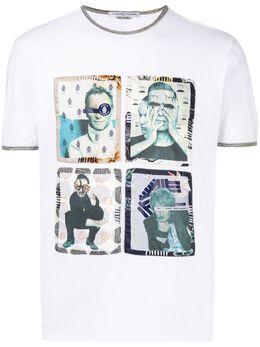 Grey Daniele Alessandrini patch-embellished T-shirt M7296E503NO4000