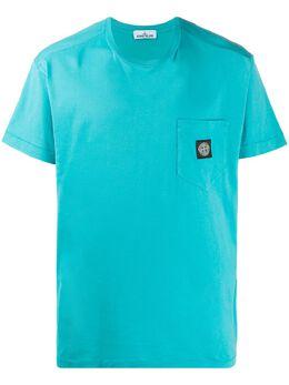 Stone Island футболка с круглым вырезом и нашивкой-логотипом MO721520113