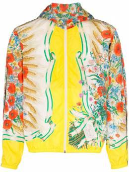 Gucci куртка с капюшоном и цветочным принтом 546347ZAAGN