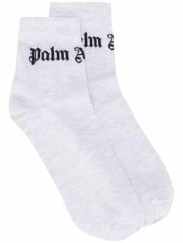 Palm Angels logo socks PWRA006S20FAB0017283