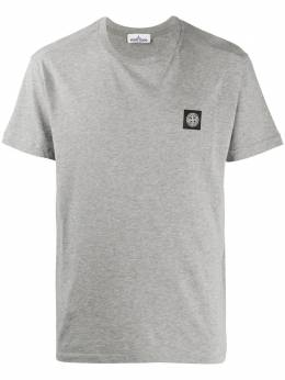 Stone Island футболка с круглым вырезом и нашивкой-логотипом MO721524113