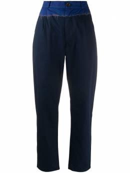 Suzusan брюки с контрастным поясом 20115022C34