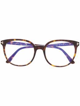 Tom Ford Eyewear очки в круглой оправе черепаховой расцветки TF5671B
