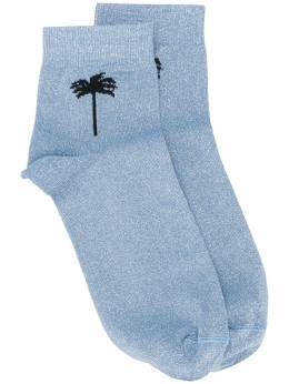 Palm Angels palm motif socks PWRA005S20FAB0014083