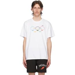 Noah Nyc White Scallops T-Shirt T11SS20