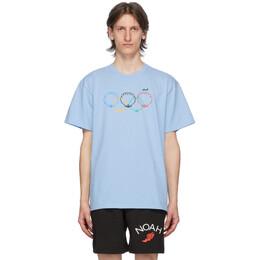 Noah Nyc Blue Scallops T-Shirt T11SS20