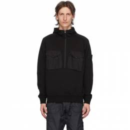 Stone Island Black Chest Pocket Hoodie 7215636F3
