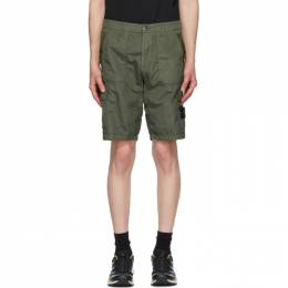 Stone Island Green Nylon Metal Shorts 7215L1029