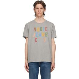 Nudie Jeans Grey Roy T-Shirt 131704