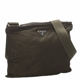 Prada Brown Nylon Tessuto Crossbody Bag 293849