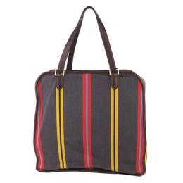 Hermes Grey Toile Canvas Sac Jumping Shoulder Bag 294021