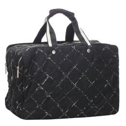 Chanel Black Nylon Old Travel Line Bag 293827