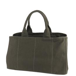 Prada Green Canapa Canvas Tote Bag 294041