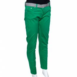 Kenzo Green Cotton Contrast Waist Band Trousers M 294590