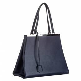 Fendi Blue Leather Large 3Jours Tote Bag 293889