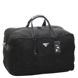 Prada Black Tessuto Nylon Duffle Bag 291500