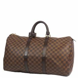 Louis Vuitton Damier Ebene Canvas Keepall 50 Bag 271664