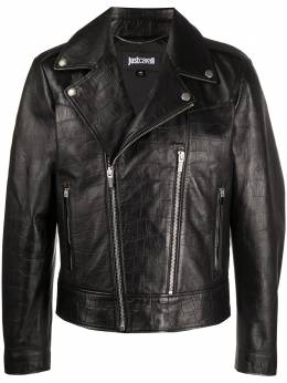 Just Cavalli байкерская куртка с косой молнией S03AM0325N09288