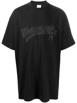 Vetements футболка оверсайз с логотипом UAH21TR516
