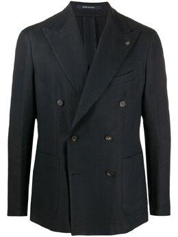 Tagliatore двубортный пиджак с булавкой на лацкане GDARREL20K34UEZ241