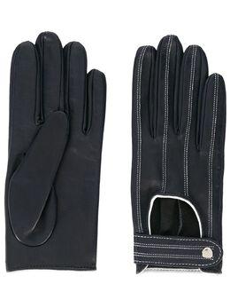 Manokhi перчатки с контрастной строчкой AW20MANO161A3SHORTGLOVESWHITESTITCH