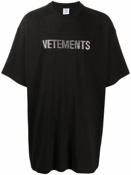 Vetements футболка оверсайз с логотипом UAH21TR515
