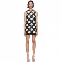 Paco Rabanne Black and White Daisy Mini Dress 20EIRO216PS0222