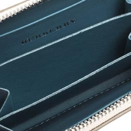 Burberry Beige Leather Burberry Zip Wallet 295202