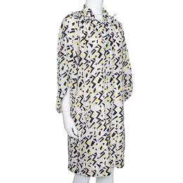 Diane Von Furstenberg Multicolor Printed Tie Detail Bairly Louche Dress L 294319