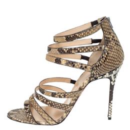 Christian Louboutin Two Tone Python Leather Mariniere 100 Sandals Size 40 294962