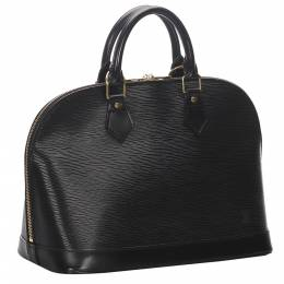 Louis Vuitton Black Epi Leather Alma PM Bag 278082