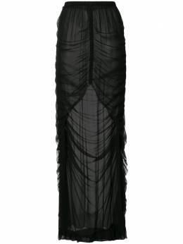 Vera Wang полупрозрачная юбка со сборками R220S02