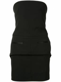 Vera Wang платье мини без бретелей R220D14