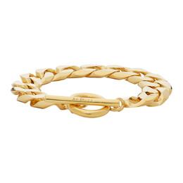 All Blues Gold Polished Moto Bracelet 101609