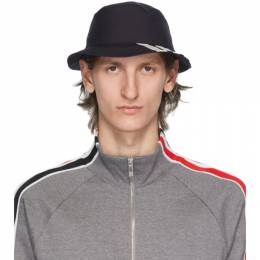Thom Browne Navy 4-Bar Classic Bucket Hat MHC327A-06146